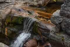 A Stream in Grafton Notch State Park. A view of a stream in Grafton Notch State Park in Maine Stock Image