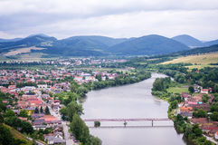 A view from the Strecno castle Stock Images