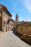 View of a street in Assisi Umbria Royalty Free Stock Image