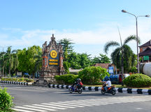 View of the street in Bali, Indonesia Royalty Free Stock Image