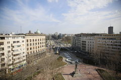 View of street in Belgrade Royalty Free Stock Image