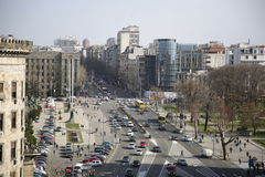 View of street in Belgrade Royalty Free Stock Images