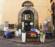 A street cafe. Sorrento. Italy. View of street cafe. Sorrento. Italy Royalty Free Stock Image