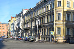 Street in center of St.Petersburg Royalty Free Stock Photos