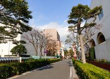 View of street in Chinatown, Yokohama Royalty Free Stock Photo