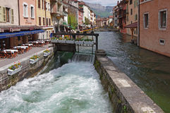 View of the street in city centre of Annecy Stock Image