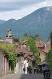 View of the street in city centre of Annecy Royalty Free Stock Image