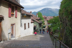 View of the street in city centre of Annecy Royalty Free Stock Photo