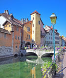View of the street in city centre of Annecy Stock Photography