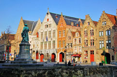 View of the street in city centre of Brugge Royalty Free Stock Photo