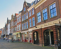 View of the street in city centre of Delft Stock Photos