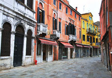 View of the street in city centre of Venice Royalty Free Stock Photos