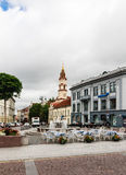 View of Street Didzioji and the Town Hall Square. Vilnius Royalty Free Stock Photography