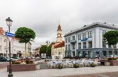 View of Street Didzioji and the Town Hall Square. Vilnius Royalty Free Stock Photos