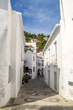 View of a street in frigiliana, pueblo blanco, spain Stock Photography
