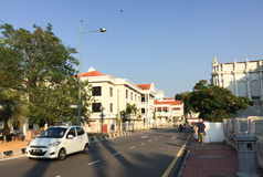 View of street in George Town, Penang, Malaysia Stock Photos