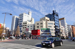 View of street in Himeji, Japan Royalty Free Stock Photos