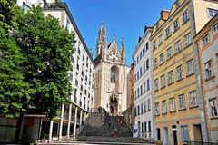 View of the street in historical centre of Vienna Royalty Free Stock Photo