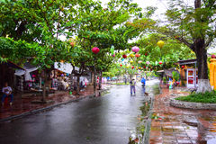 View of the street in Hoi An old town, Vietnam Stock Photography