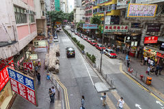 View of a street in Hong Kong Royalty Free Stock Photo