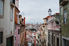 View of the street and houses. View of the streets and rooftops royalty free stock photos