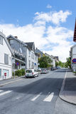 View of a street in Lillehammer on a sunny summer day on June 27, 2016 in Lillehammer, Norway Royalty Free Stock Image