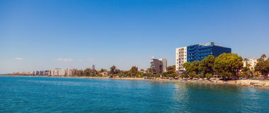 View of street, Limassol, Cyprus Royalty Free Stock Photography
