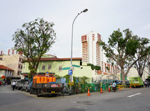 View of the street in Little India, Singapore Stock Photography