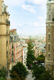 View of street at Monmartre in Paris