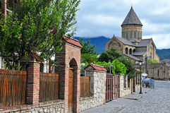 View of the street in Mtskheta old town Stock Photography