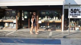 View on street in Protaras, CYPRUS stock video