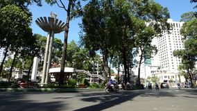 View of the street in Saigon, Vietnam stock video footage