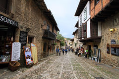 View of a street in Santillana del Mar Royalty Free Stock Image