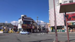 View of street at Shinawa district in Tokyo, Japan.  stock footage