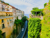 View of the street in Sorrento, Italy. Royalty Free Stock Images