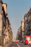 View of the street and tourists in Catania city Sicily, Italy. Royalty Free Stock Image