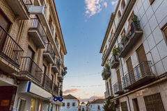 View of a street in the town of Santa Fe, Granada, Spain Royalty Free Stock Photos