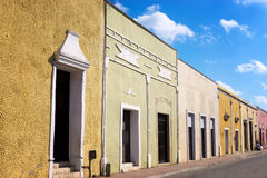 View of a Street in Valladolid, Mexico Stock Photo