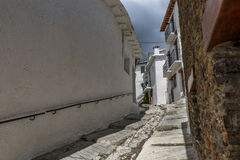 View of a street in the village of Capileira in La Alpujarra, Gr Royalty Free Stock Photography