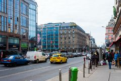View of the hotel Astoria Budapest, Hungary, Royalty Free Stock Image