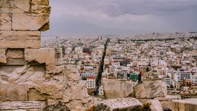 View on streets of Athens royalty free stock images