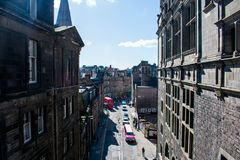 A view of the streets on Edinburgh royalty free stock photography