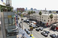 View on the streets of Hollywood at daytime stock image