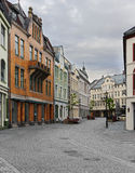 View on streets and houses at city of Alesund Royalty Free Stock Image