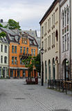 View on streets and houses at city of Alesund Royalty Free Stock Photo
