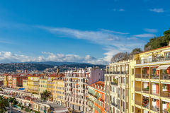 View of streets and landmarks. Villefranche-sur-Mer, Nice. Stock Photo