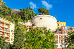 View of streets and landmarks. Villefranche-sur-Mer, Nice. Royalty Free Stock Photos