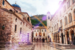 View of streets of old fortress in Dubrovnik, Croatia Stock Photo