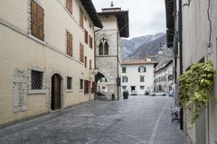 The historic center in Venzone, Friuli, Italy Royalty Free Stock Photography