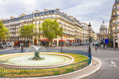 View of the streets and the Pantheon in the Latin Quarter in Paris Stock Photo